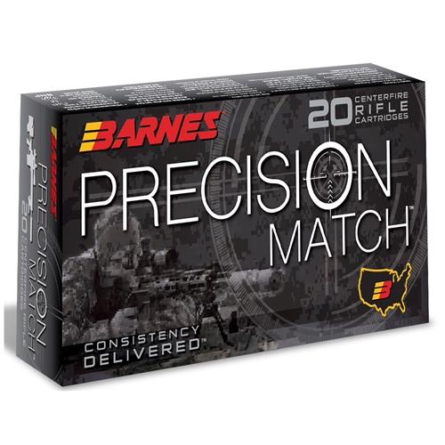 Barnes Precision Match 6.5 Grendel Ammo 120 Grain Match Burner OTM Boat Tail