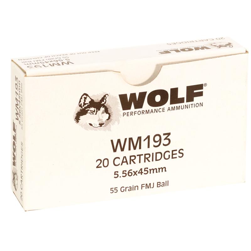Wolf Gold 5.56mm M193 NATO Ammo 55 Grain Full Metal Jacket