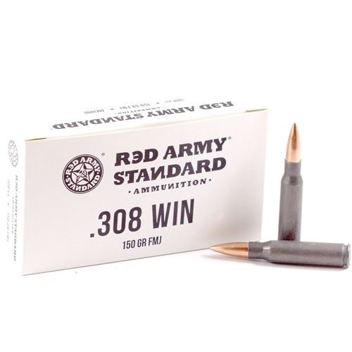 Red Army Standard 308 Winchester Ammo 150 Grain FMJ Steel Case