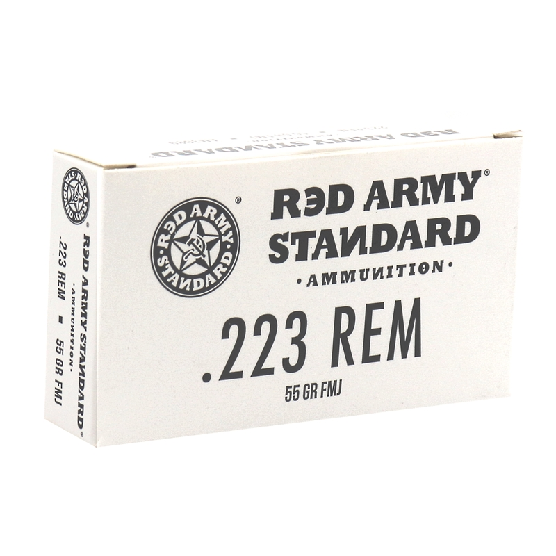 Red Army Standard 223 Remington Ammo 55 Grain FMJ Steel Case