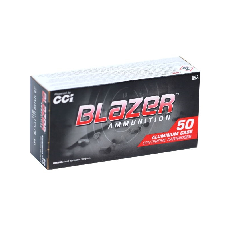 CCI Blazer 38 Special Ammo 125 Grain +P Jacketed Hollow Point