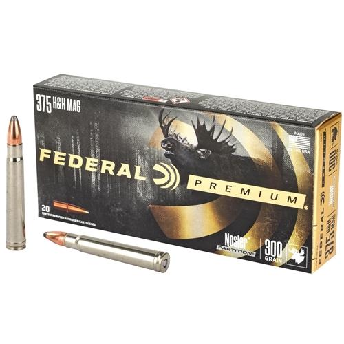 Federal Premium 375 H&H Magnum Ammo 300 Grain Nosler Partition