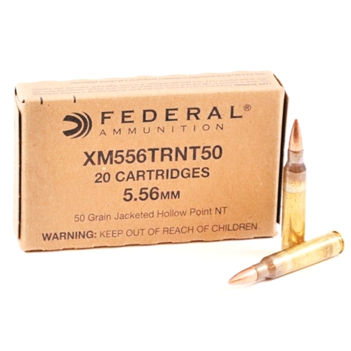 Federal Training 5.56mm Ammo 50 Grain Non Toxic JHP