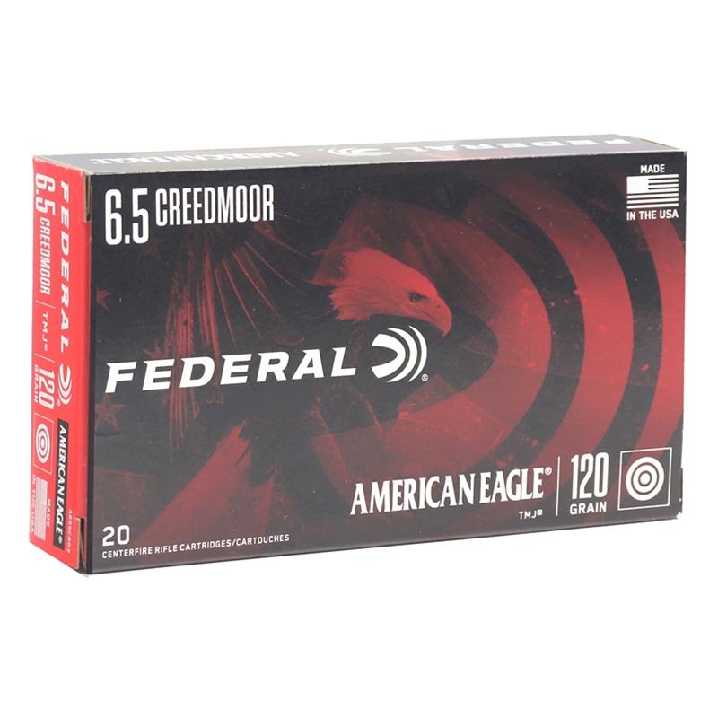 Federal American Eagle 6.5 Creedmoor Ammo 120 Grain TMJ
