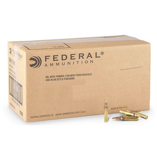 Federal American Eagle 5.56mm NATO Ammo 55 Grain FMJ 1000 Rds Bulk