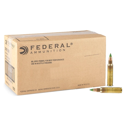 Federal American Eagle 5.56x45mm NATO M855 Ammo 62 Grain Green Tip FMJ 1000 Rounds