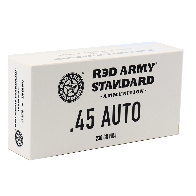 Red Army Standard 45 ACP AUTO Ammo 230 Grain FMJ Steel Case