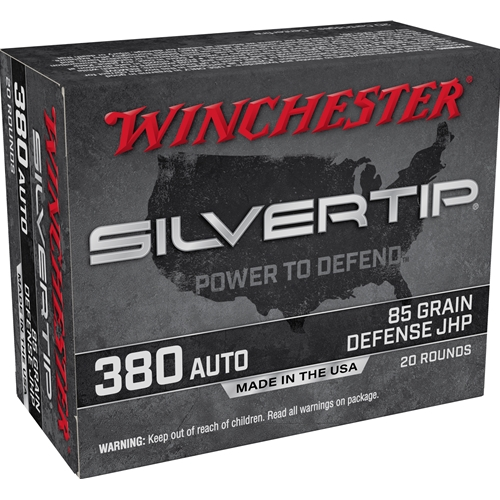 Winchester Silvertip 380 ACP AUTO Ammo 85 Grain Silvertip Hollow Point