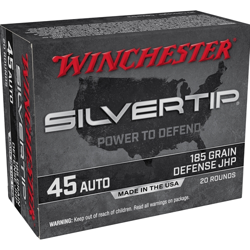 Winchester Silvertip 45 ACP AUTO Ammo 185 Grain Silvertip Hollow Point