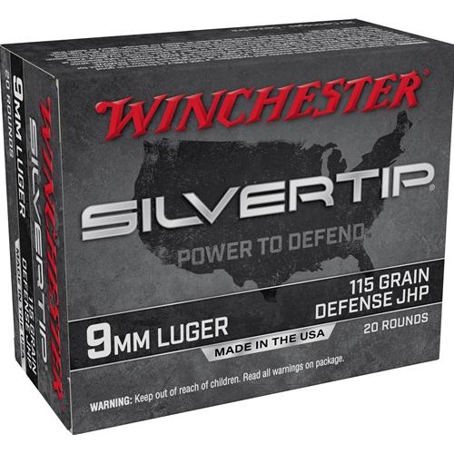 Winchester Silvertip 9mm Luger Ammo 115 Grain Silvertip Hollow Point