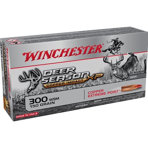 Winchester Deer Season XP 300 WSM Ammo 150 Grain Copper Extreme Point Lead Free Polymer Tip