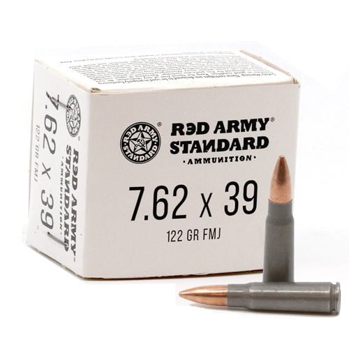 Red Army Standard 7.62x39mm Ammo 122 Grain FMJ Steel Case