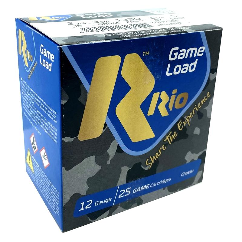 "Rio Game Load 12 Gauge Ammo 2 3/4"" 3 3/4 dr 1 1/4 oz #5 Shot 250 Rounds"