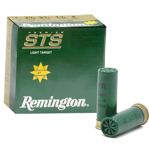 "Remington Premier STS Light Target 12 Gauge Ammo 2-3/4"" 1-1/8 oz #8 Lead Shot"