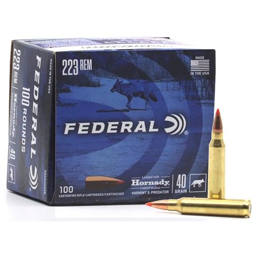Federal Varmint & Predator 223 Remington Ammo 40 Grain Hornady V-Max