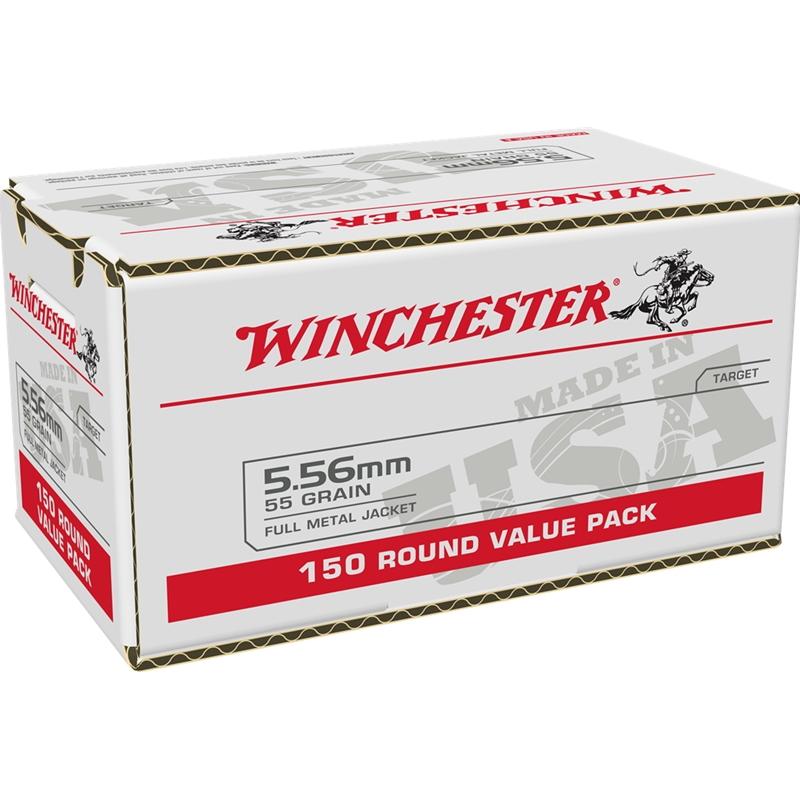 Winchester USA 5.56x45mm NATO Ammo 55 Grain FMJ Value Pack