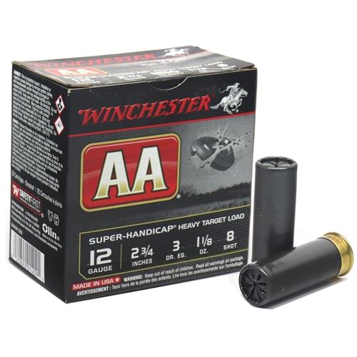 "Winchester AA Super Handicap12 Gauge 2 3/4""-1 1/8oz. #8 Shot"