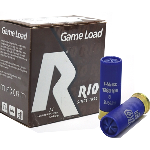 "Rio Game Load 12 Gauge Ammo  2-3/4"" 1-1/8 oz  #8 Shot 250 Rounds"