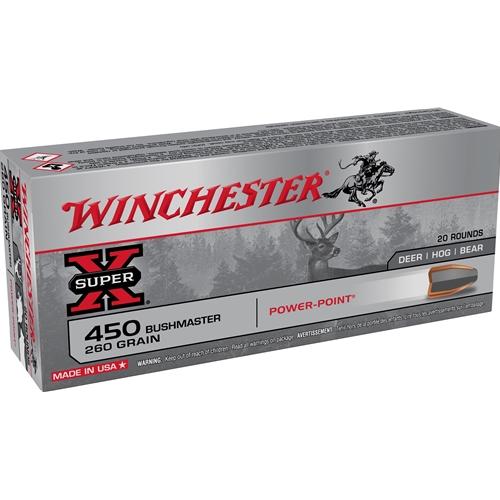Winchester 450 Bushmaster Ammo 260 Grain Power Point