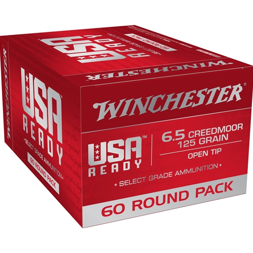 Winchester USA Ready 6.5 Creedmoor Ammo 125 Grain Open Tip 60 Rounds Value Pack