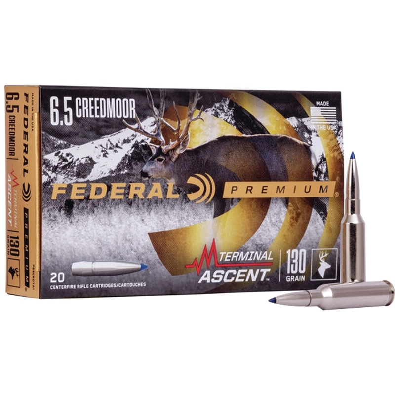 Federal Premium 6.5 Creedmoor Ammo 130 Grain Terminal Ascent