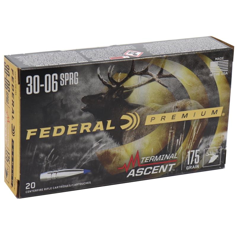 Federal Premium 30-06 Springfield Ammo 175 Grain Terminal Ascent