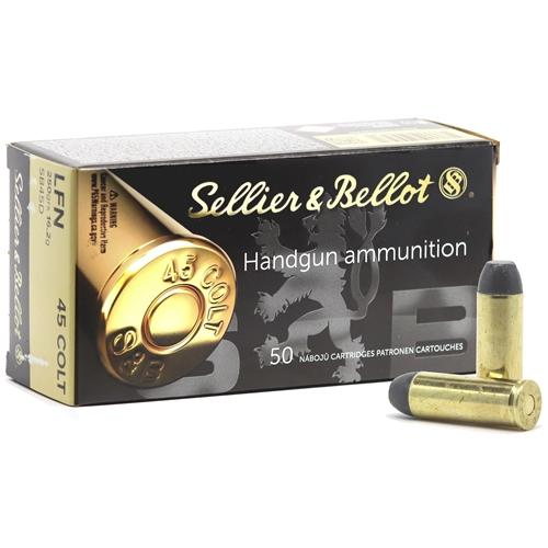 Sellier & Bellot 45 Long Colt Ammo 250 Grain  Lead Flat Nose