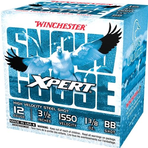 "Winchester USA Xpert Snow Goose 12 Gauge Ammo 3 1/2"" 1 3/8 oz #BB Steel Shot"