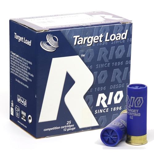 """Rio Target Load 12 Gauge Ammo 2 3/4"""" 3 dr 1-1/8 oz #7.5 Shot 250 Rounds"""