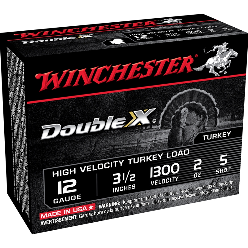 """Winchester Double X 12 Gauge 3 1/2"""" 2 oz. #5 Shot Plated Lead Shot"""