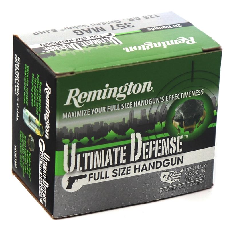 Remington HD Ultimate Defense 357 Magnum Ammo 125 Grain BJHP
