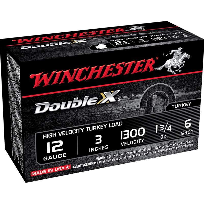 "Winchester Double X Turkey 12 Gauge Ammo 3"" 1 3/4 oz #6 Lead Shot"