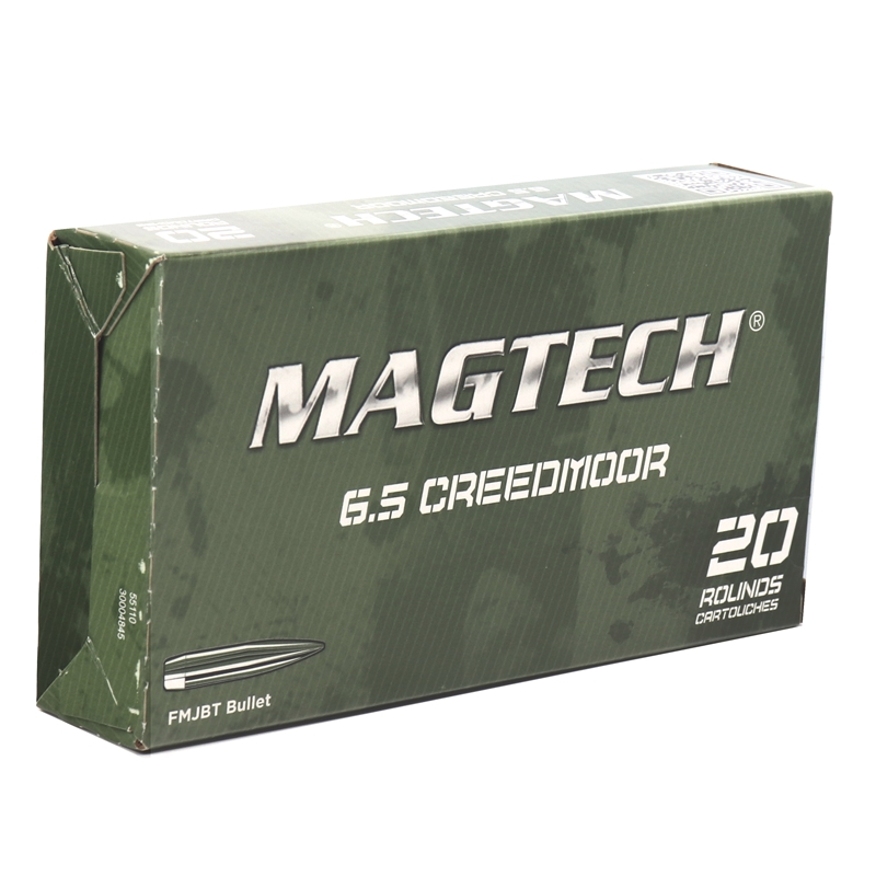 Magtech 6.5 Creedmoor Ammo 140 Grain Full Metal Jacket BT