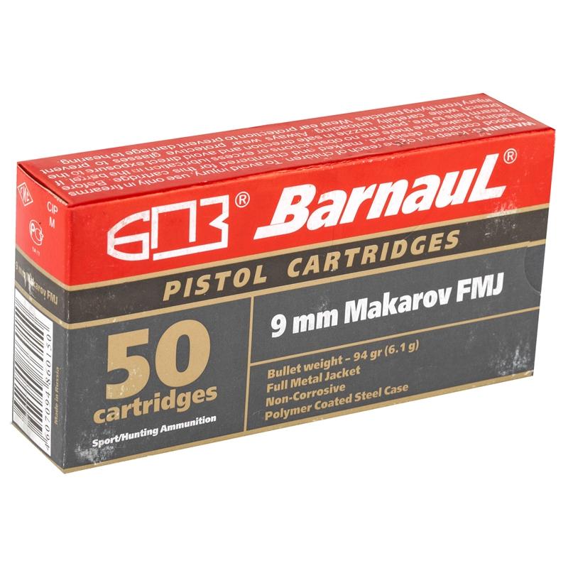 Barnaul 9mm Makarov Ammo 94 Grain Full Metal Jacket