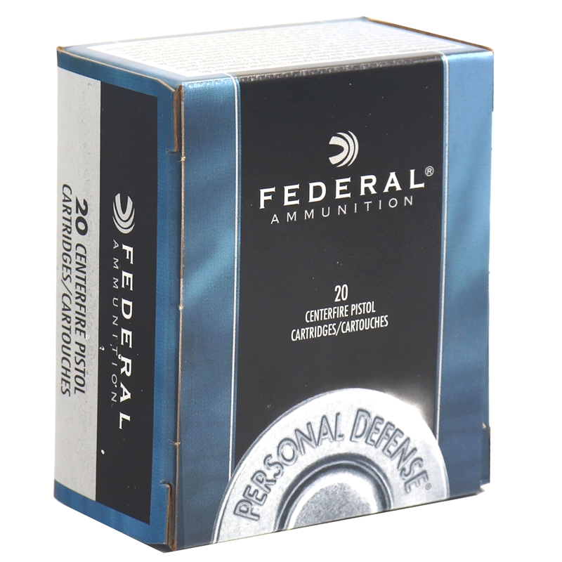 Federal Personal Defense 45 ACP Auto Ammo 185 Grain Jacketed Hollow Point