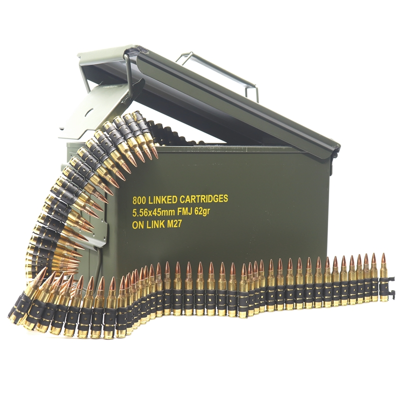 Magtech 5.56x45mm NATO Ammo 62 Grain Full Metal Jacket 800 Linked Rounds in Ammo Can