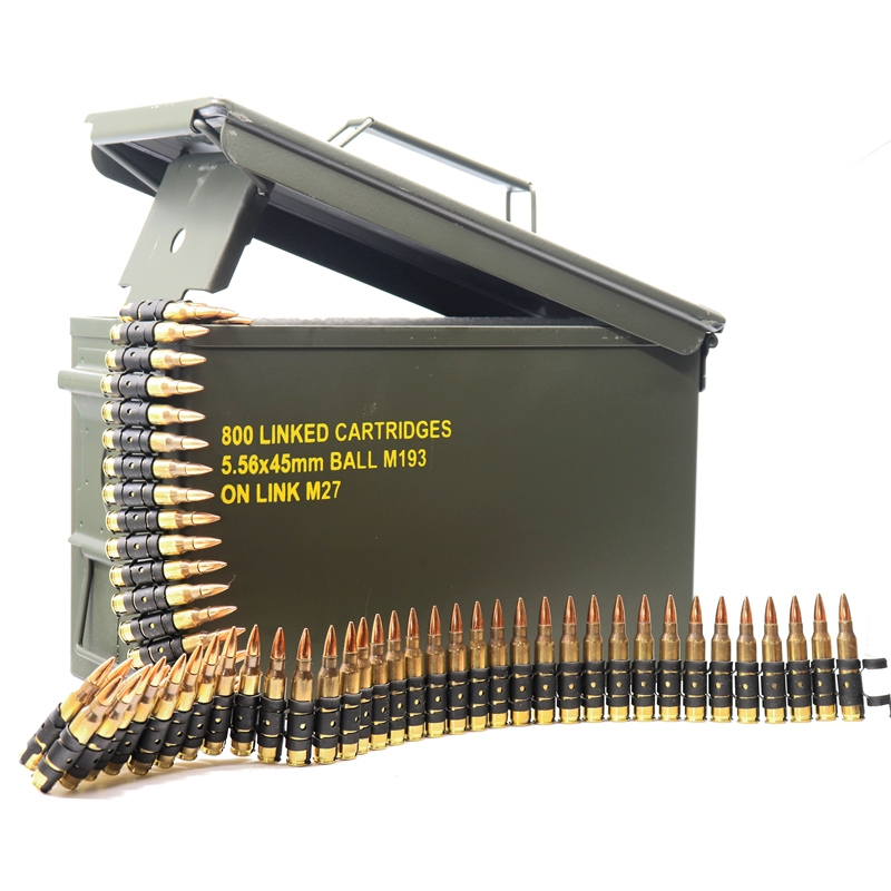 Magtech 5.56x45mm NATO M193 Ammo 55 Grain Full Metal Jacket 800 Linked Rounds in Ammo Can