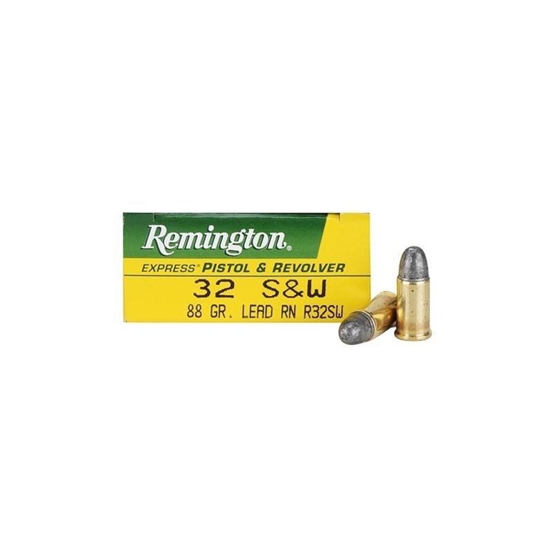Remington Express 32 S&W Ammo 88 Grain Lead Round Nose