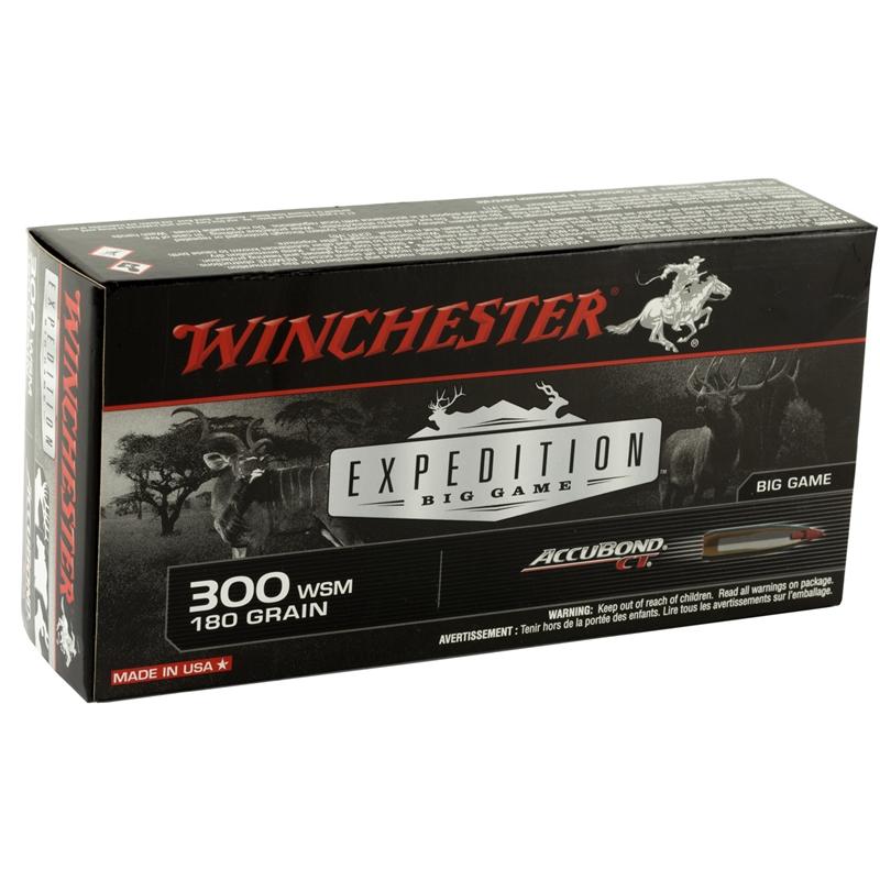 Winchester AccuBond 300 WSM Ammo 180 Grain Nosler Polymer Tip Boat Tail Bullet