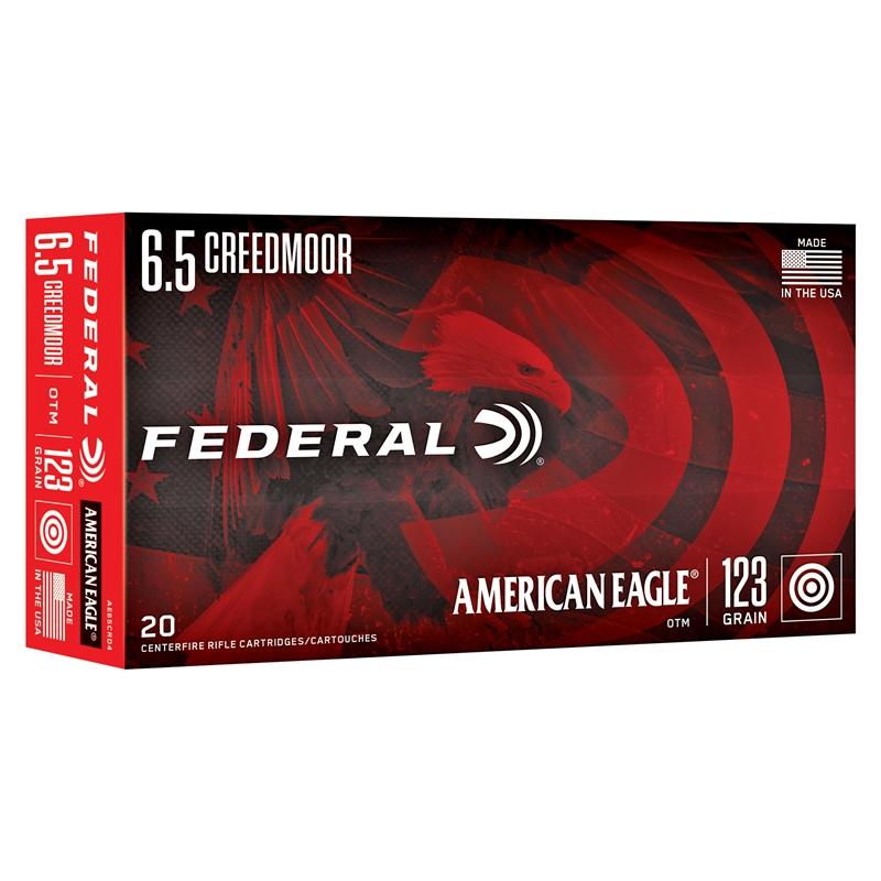 Federal American Eagle 6.5 Creedmoor Ammo 123 GrainOpen Tip Match