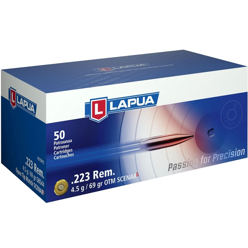 Lapua Scenar-L 223 Remington Ammo 69 Grain Hollow Point Boat Tail