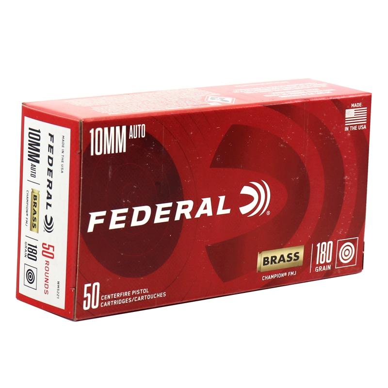 Federal Premium 10mm Auto Ammo 180 Grain Full Metal Jacket