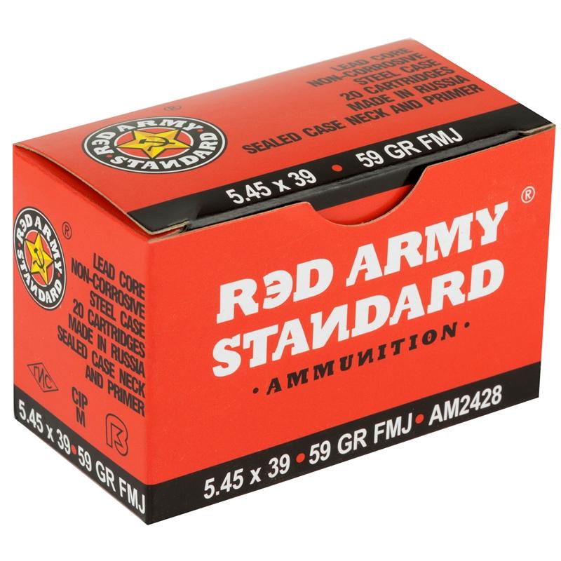 Red Army Standard 5.45x39mm Ammo 59 Grain FMJ Steel Case