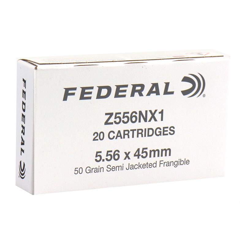 Federal Military Overrun  5.56x45mm Ammo 50 Grain Semi Jacketed Frangible