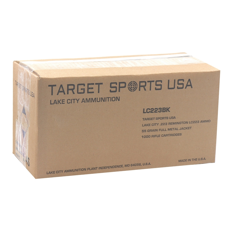 Target Sports USA Lake City 223 Remington Ammo 55 Grain FMJ 1000 Rounds Bulk