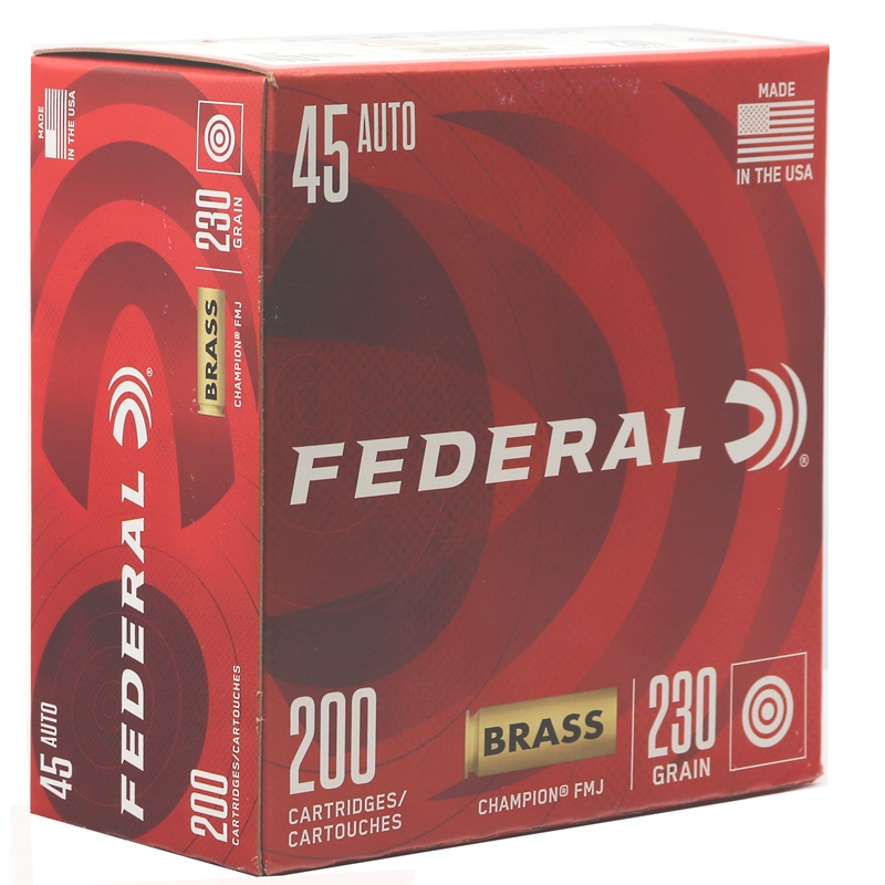 Federal Champion 45 ACP AUTO Ammo 230 Grain Full Metal Jacket 200 Rounds