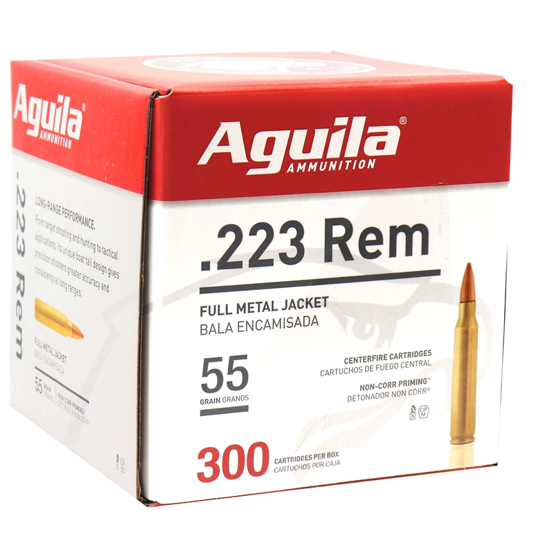 Aguila Centerfire Rifle 223 Remington Ammo 55 Grain FMJ Boat Tail