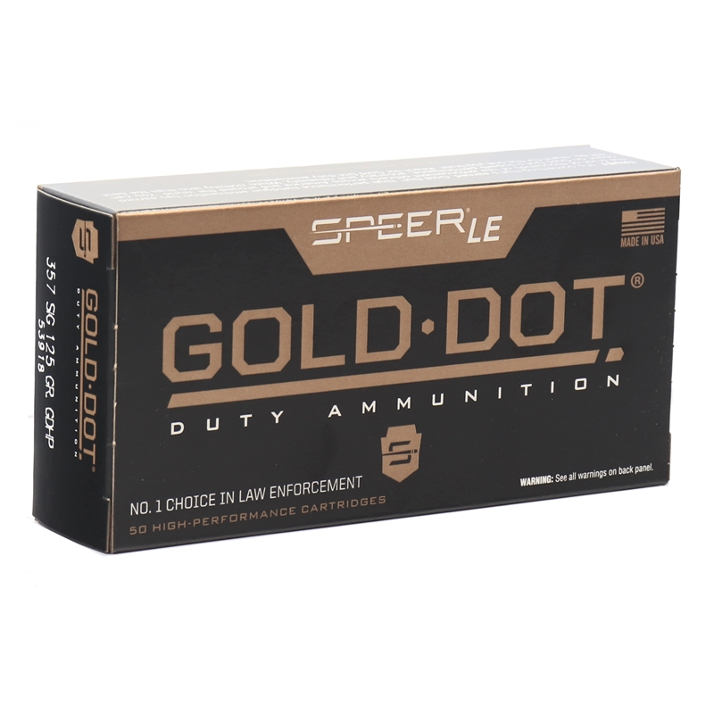 Speer Gold Dot LE Duty 357 SIG Ammo 125 Grain JHP