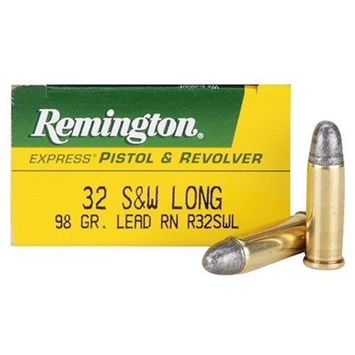 Remington Express 32 S&W Long Ammo 98 Grain Lead Round Nose