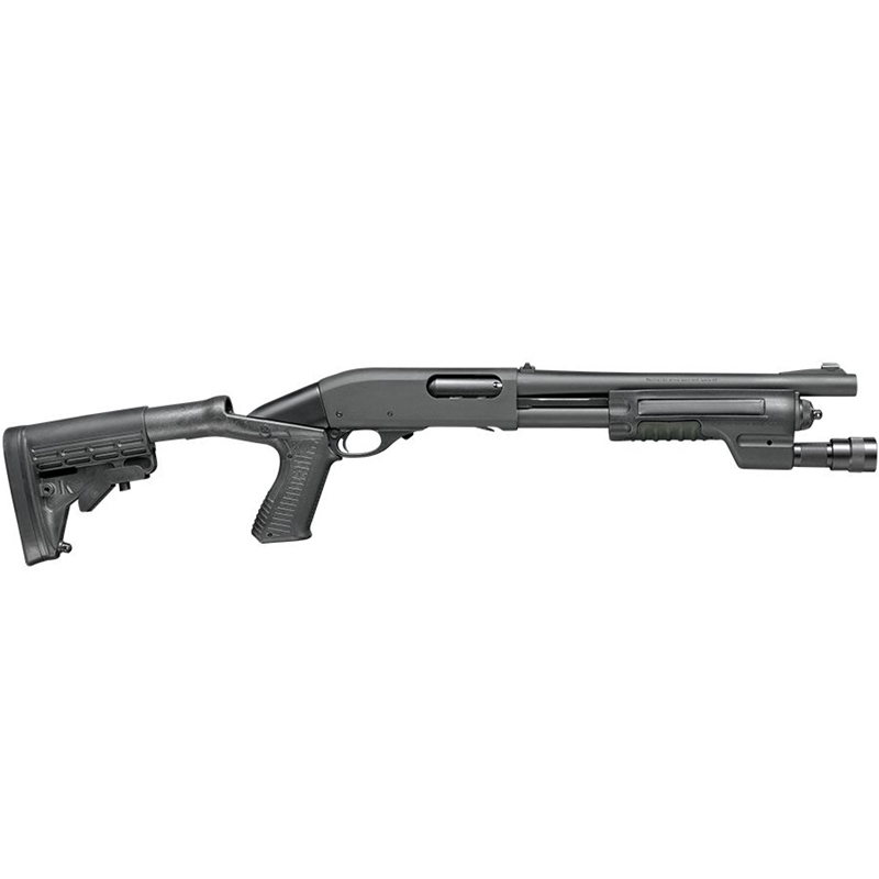 "Remington 870 Police 12 Gauge Pump Action 14"" Barrel 4+1 Rounds Collapsible Recoil Reducing Black"